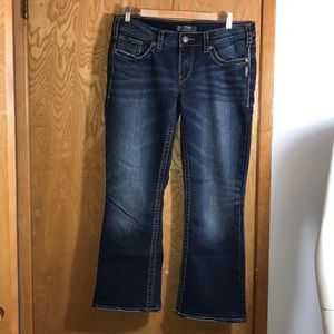 Silver AIKO Bootcut Jeans